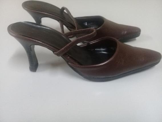 Zapatos Mujer Marca Febo Cuero Marron 37 Taco Alto Stilettos