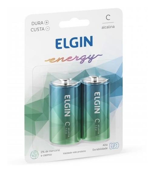 Pilha Alcalina C Blister Com 2 82156 Elgin