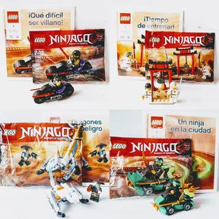 Lego Ninjago - Pack X4 - Auto + Moto + Dragones + Doho