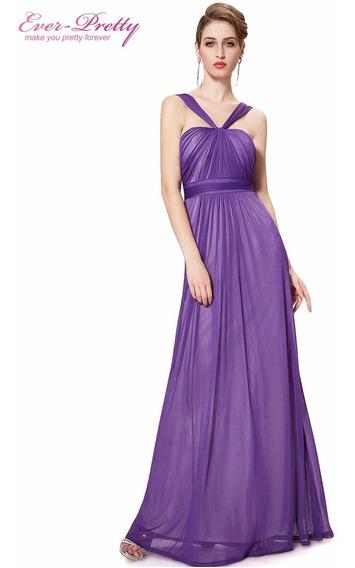 Vestido Longo Ever Pretty Luxo Pronta Entrega