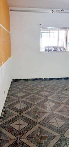 Casa Com 1 Dormitório Para Alugar, 40 M² Por R$ 900/mês - Vila Curuçá - Santo André/sp - Ca0556