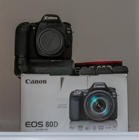Canon 80d (corpo + Grip + 3 Baterias + 2 Carregadores)