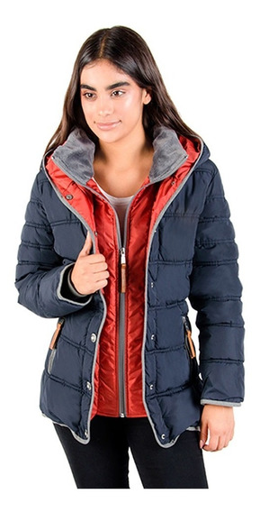 Chamarra Mujer Greenlander Pol5935 Moda Cerradura Doble