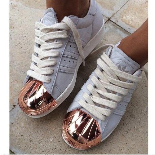 freno africano de primera categoría  Zapatillas adidas Superstar Metallic Toe Punta Acero Mujer | Mercado Libre