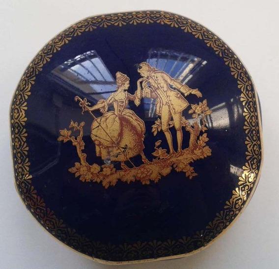 Antigua Caja Porcelana Limoges Francia Alhajero Despojador