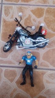 Luchadores Hulk Hogan Wild Wrestlers Motorcycle Hollywood 99