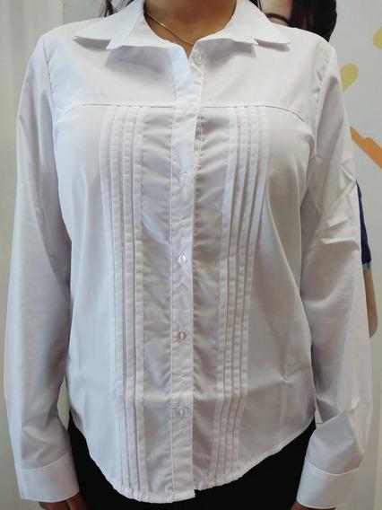 Camisa Alforzada Manga Larga 21 De Septiembre Art 171