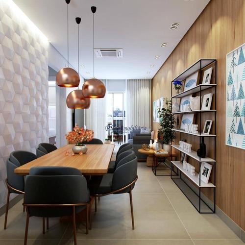 Magnífico Apartamento Com 2 Dormitórios Sendo 1 Suíte, À Venda, 62 M² Por R$ 260.000 - Aviação - Praia Grande/sp - Ap0847