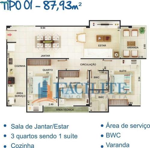 2139 - Apartamento Para Vender, Jardim Oceania, João Pessoa, Pb - 23213