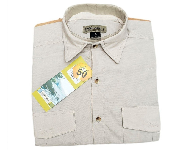 Camisa Explora Mini Ripstop Secado Rapido Hombre Filtro Uv