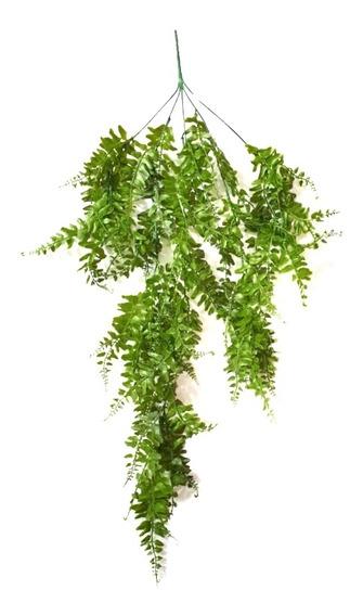 Helecho Colgante Planta Artificial Verde