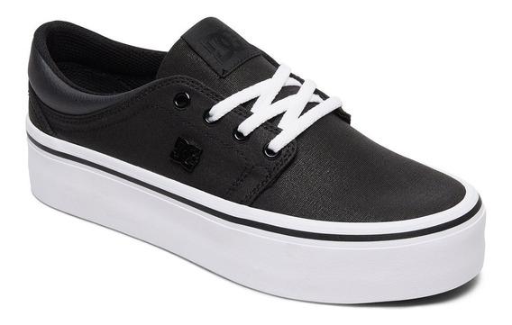Zapatillas Dc Shoes Mod Trase Plataforma Tx Se Negro Blanco