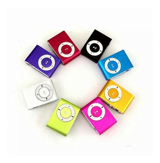 Mini Mp3 Mp4 Player Clip Fm Cabo Usb Fone Completo Promoção