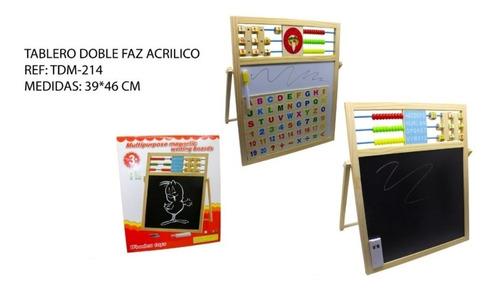 Tablero Didáctico Multiusos Letras Numeros Acrílico Tiza