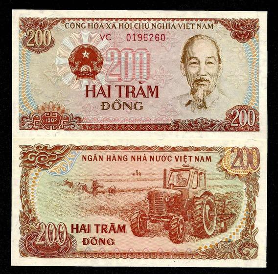 Vietnã 200 Dong 1987 P. 100b Fe Cédula - Tchequito