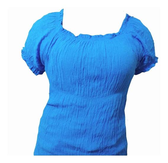 Blusa-camisola Bambula Cortas/largas Talle Especial - Xl
