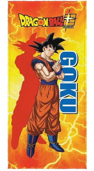 Toalha De Banho Felpuda Dragon Ball Goku 60x1,20 Lepper