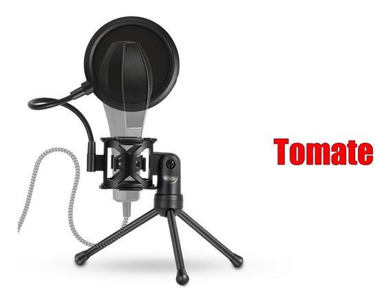 Suporte Microfone Filtro Condensador Estudio Gravação Tripe