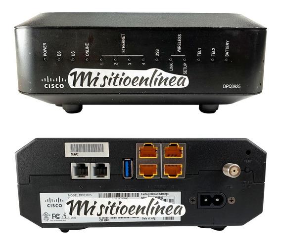 Cable Modem Router Wifi Mta Telefonia Homologado Inter Cisco