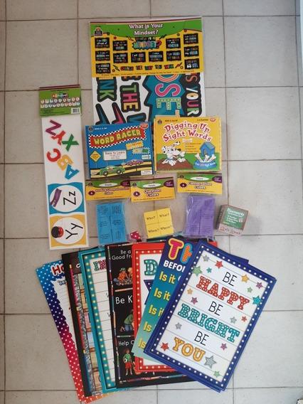 Lote Materiales De Estudio Y Decoracion De Aulas De Ingles