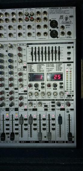 Mesa De Som Behringer Eurodesk Sl3242fx Pro 32 Canais Mixer