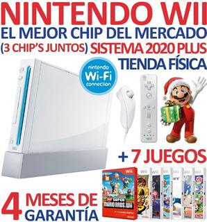 Excelente Consola Nintendo Wii + 3 Chip + 7 Sorpresas Y Más