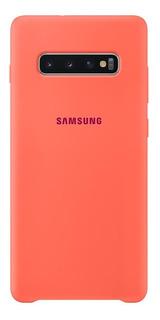 Capa Protetora Samsung Galaxy S10+ Silicone Rosa