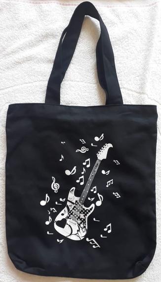 Bolsa Sacola Guitarra Violão Com Ziper Forrada Grande