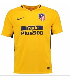 Camisa Atlético De Madrid 17/18 Amarela Uniforme 2