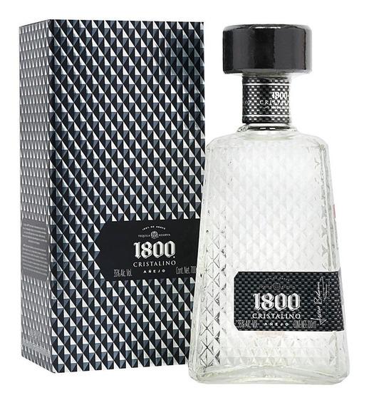 Tequila 1800 Cristalino Añejo 700 Ml Original + Envío Gratis