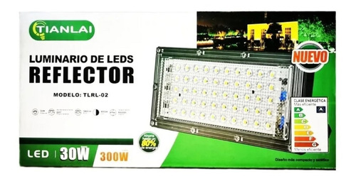 Reflector Led 30w 300w Luz Blanca Interperie Exterior  T2143