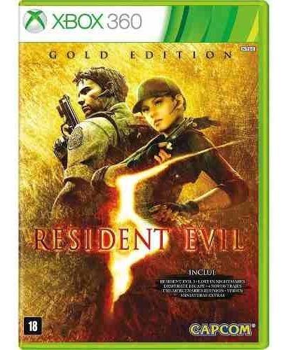 Resident Evil 5 Gold Edition Xbox 360 Disco Fisico Original