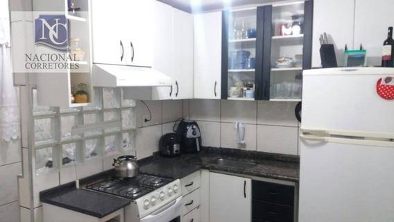 Apartamento Com 2 Dormitórios À Venda, 50 M² Por R$ 210.000 - Vila Camilópolis - Santo André/sp - Ap7448