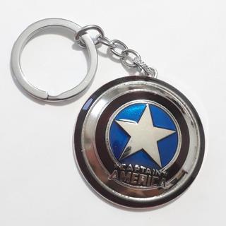 Llavero Escudo Capitan America De Metal Avengers (rosario)