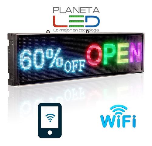 Imagen 1 de 5 de Letrero Luminoso Led Rgb Wifi Usb Pasamensaje 500 Caractere