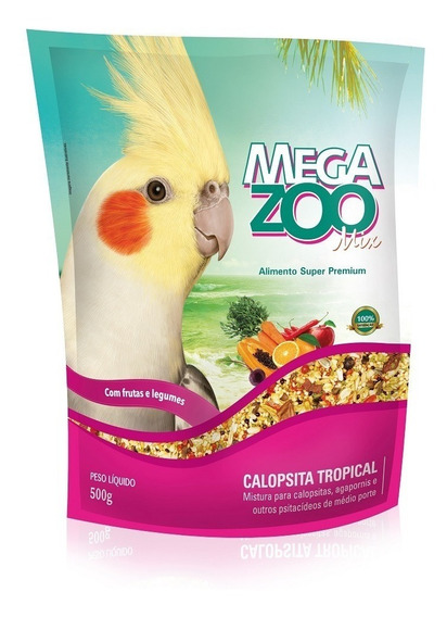 Ração Megazoo Mix Tropical Para Calopsitas 500g