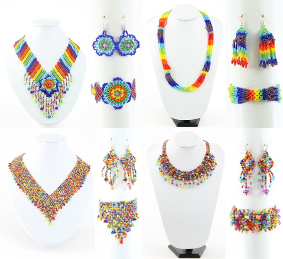 6 Pzs Collar De Chaquira