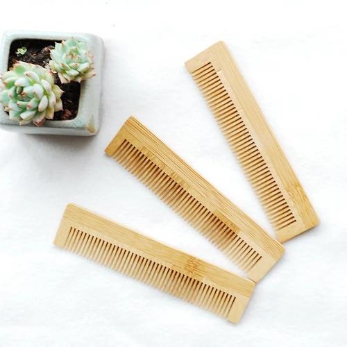 Peinilla Bambú Natural Para Cabello Y Barba