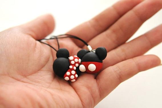 Collar Pareja Novios Amigos Minnie Mickey