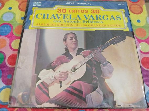 Chavela Vargas Lp 30 Exitos Con Antonio Bribiesca Z