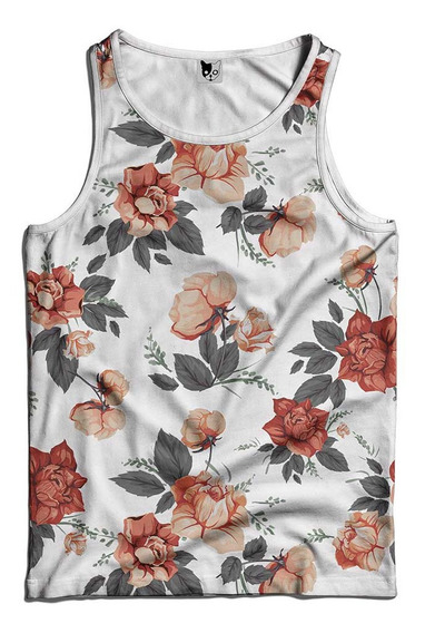 Regata Floral Flores Rosas , Florida Estilo Swag Streetwear