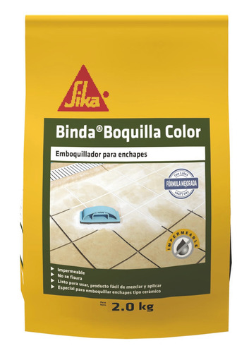 Sika Binda Boquilla Color Emboquillador Para Enchapes 2kl