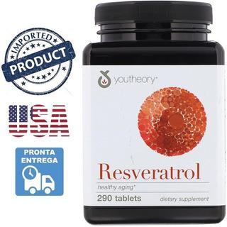 Trans Resveratrol Youtheory 290 Cápsulas 250mg Importado Eua