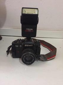 Máquina Fotográfica Zenit - Com Lente E Flash