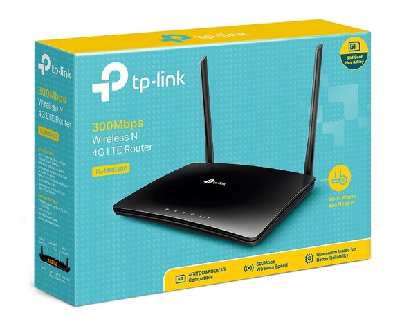 Modem Router Tp Link 4g Lte Simcard Tl-mr6400 Internet Wifi