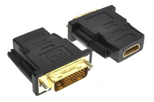 Imagen 1 de 8 de Convertidor Conector De Video Digital Dvi D A Hdmi
