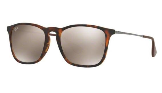 Oculos Sol Ray Ban Chris Rb4187l 865 5a 54mm Tartaruga Fosco