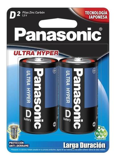 Pila Panasonic Carbon Zinc Azul D C/2 1.5v Um-1npa/2b