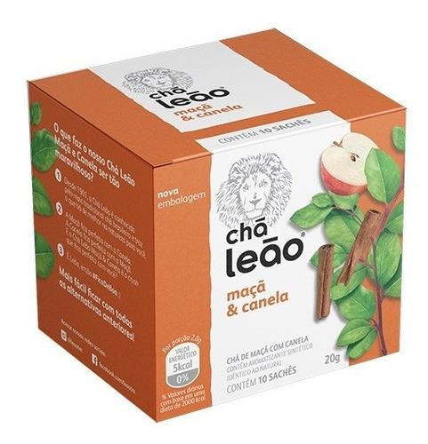 Chá Leão Premium - Maçã Com Canela 10 Saches