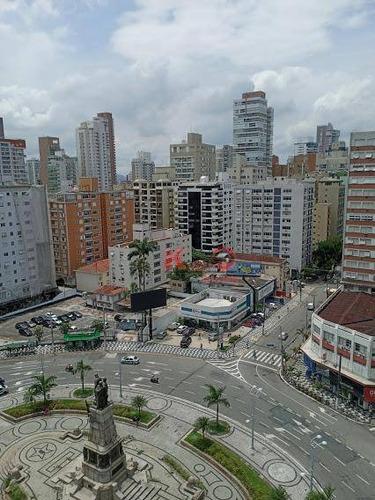 Apartamento Com 2 Dormitórios Com O 3° Opcional  À Venda, 120 M² Por R$ 590.000 - Gonzaga - Santos/sp - Ap10162